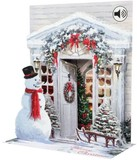UP WITH PAPER サウンドカード 立体仕様 クリスマス <スノーマン×リース>