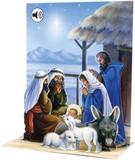 UP WITH PAPER サウンドカード 立体仕様 クリスマス <キリスト降誕×マリア・ヨセフ>