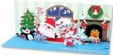 UP WITH PAPER パノラミックスサウンドカード 立体仕様 クリスマス <サンタ×パーティー>