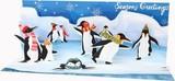 UP WITH PAPER パノラミックスサウンドカード 立体仕様 クリスマス <ペンギン>