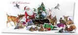 UP WITH PAPER パノラミックスサウンドカード 立体仕様 クリスマス <サンタ×動物>