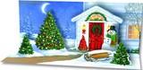 UP WITH PAPER パノラミックスサウンドカード 立体仕様 クリスマス <スノーマン×ツリー>