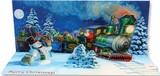 UP WITH PAPER パノラミックスサウンドカード 立体仕様 クリスマス <サンタ×機関車>