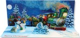UP WITH PAPER パノラミックスカード 立体仕様 クリスマス <サンタ×機関車>