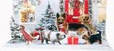 UP WITH PAPER パノラミックスカード 立体仕様 クリスマス <犬>