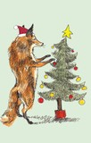 ROGER LA BORDE クリスマス スモールカード <動物×ツリー>