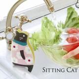 【シンクのふちにちょこんと座る】おすわりスポンジ ネコ