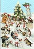 ROGER LA BORDE クリスマスカード<犬×ツリー>