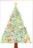 ROGER LA BORDE クリスマスカード<動物×ツリー>