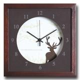 小さめサイズが可愛い北欧テイストのインテリアクロック(時計)VerdureClock/Reindeer/BR