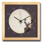 小さめサイズが可愛い北欧テイストのインテリアクロック(時計)VerdureClock/Reindeer/NA