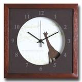 小さめサイズが可愛い北欧テイストのインテリアクロック(時計)VerdureClock/Giraffe/BR