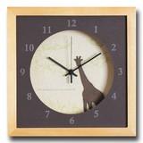 小さめサイズが可愛い北欧テイストのインテリアクロック(時計)VerdureClock/Giraffe/NA