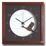 小さめサイズが可愛い北欧テイストのインテリアクロック(時計)VerdureClock/Swan/BR