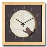 小さめサイズが可愛い北欧テイストのインテリアクロック(時計)VerdureClock/Cat/NA