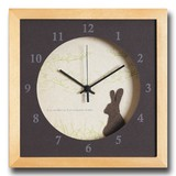 小さめサイズが可愛い北欧テイストのインテリアクロック(時計)VerdureClock/Rabbit/NA