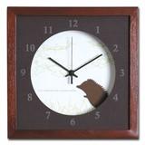 小さめサイズが可愛い北欧テイストのインテリアクロック(時計)VerdureClock/Hedgehog/BR