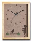 こどもたちとネコの仕草が可愛い北欧テイストのインテリアクロック(時計) Bubble Boy/NA