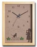 こどもたちとネコの仕草が可愛い北欧テイストのインテリアクロック(時計) Bubble Girl/NA