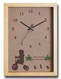 こどもたちとネコの仕草が可愛い北欧テイストのインテリアクロック(時計) Tricycle Boy/NA