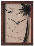 人気のハワイアンクロック/Palm Clock/200*270