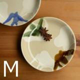 【利左エ門窯】二彩 緑×茶 プレートM<波佐見焼>