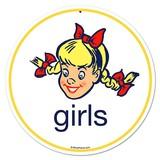 【スティールサイン】【フード&ドリンク】Girls<看板>★アメリカ製★