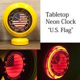 テーブルトップネオンクロック[U.S. Flag]