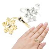 【お値下げしました】雪の結晶&光石の巻きつきリング