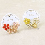 Colorful Wire Flower Set Pierced Earring