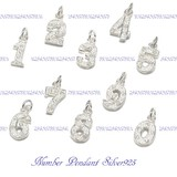 Silver 925 Number Pendant Number