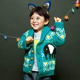 【SALE】【2014秋冬新作】バクのジャカードニットジャケット