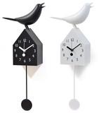 小鳥のさえずりが今にも聞こえてきそう♪【シンギングバードクロックペンデュラム】2色チョイス♪