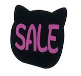 【店舗用品】看板 ボード (ミニ) ネコ型/レジ前/POP用品/シルエットスタンド/ねこ/猫