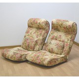 <直送対応>【送料無料】 腰にやさしい!ハイバック座椅子2台セット
