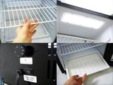 店舗用ノンフロンディスプレイクーラー業務用冷蔵庫ブラックSC40B-BK