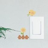Mini Wall Stickers/ミニウォールステッカー/Baby Bird Rolly