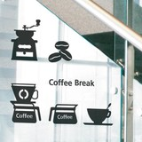 Mini Wall Stickers/ミニウォールステッカー/Caf? Pattern