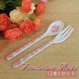 5%offセール!Feminine Rose☆ミニフォーク&ミニスプーン(各12本1セット)