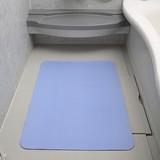 【お風呂洗い場マット ブルー 60×90】介護用品 吸着マット バスマット 滑り止めマット 入浴マット