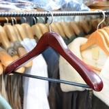 木製ジャケットハンガー 45cm ズボン掛け ブラウン