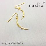 【radiu】-22金ゴールドフィールド-〜月の輝き〜スワロフックピアス