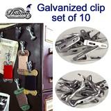 GALVANIZED CLIP SET OF 10