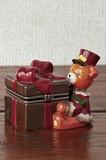 【5月21日から31日まで限定分引きセール!】【クリスマス】【ヒンジボックス】ベアリボン