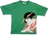 【期間限定セール 大特価】和柄 レディースTシャツ 「美人画」
