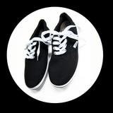 【有るだけ系!】プレーンブラックデッキシューズ・スニーカー・靴