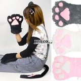 Cat 4-unit Set Glove Choker Full Set Cat Cosplay