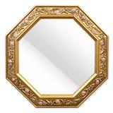イタリア製 ロココ調・金色の風水八角ミラー豪華版