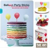 『BALLOON PARTY PICKS』飛んでいきそうな風船のパーティーピック(12本セット)