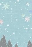 日本製 冬 ハガキ箋 雪のたより
